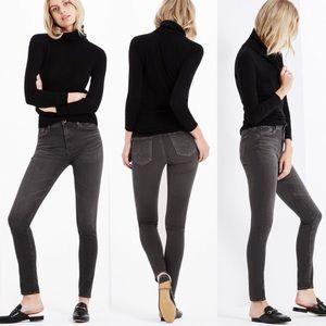 Ag High-Rise Skinny Farrah Jeans in Gray Mist